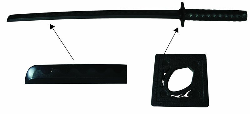 Bokken Ninja z tworzywa czarny
