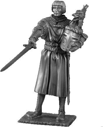 Figurka Lancelot - Rycerze Okrągłego Stołu - Les Etains Du Graal