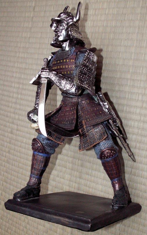 Figurka Samuraja z dwoma mieczami