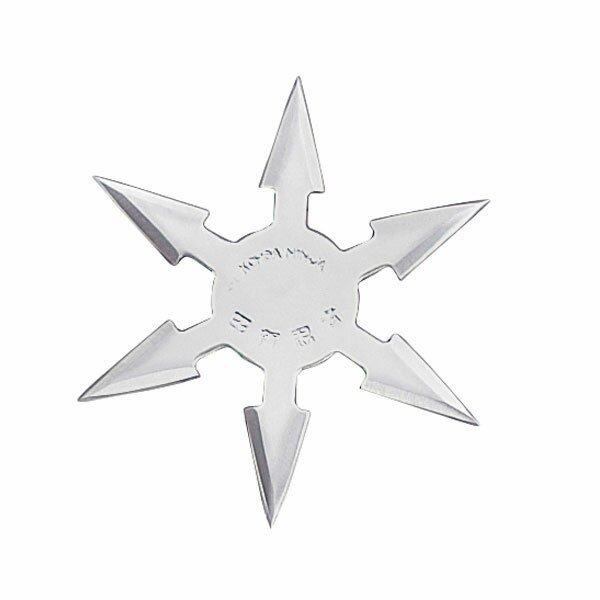 Gwiazdka ninja Throwing Star 6 Pt SS 4`` w/pouch