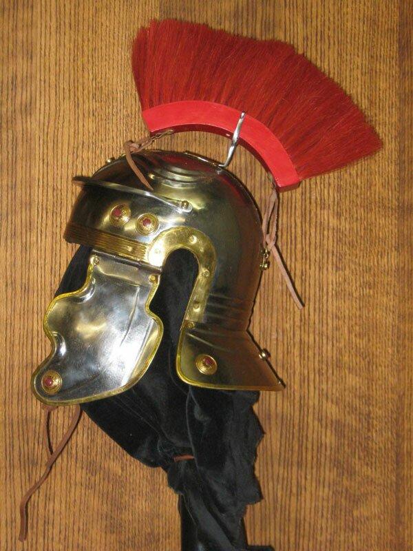 Hełm Rzymski Imperial Gallic H, Red Crest