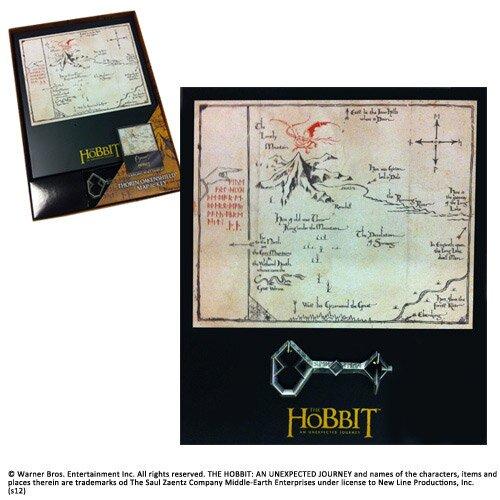 Klucz i Mapa Thorina z filmu Hobbit Noble Collection