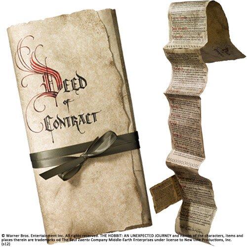 Kontrakt Bilbo Bagginsa z filmu Hobbit Noble Collection