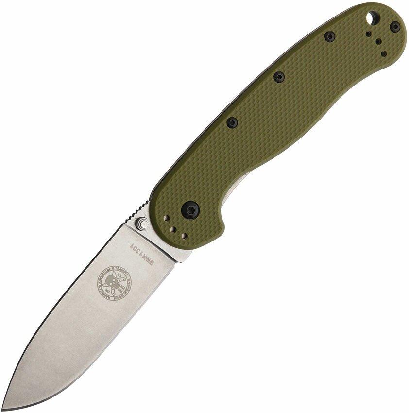 Nóż składany ESEE Avispa D2 OD Green Handle Satin