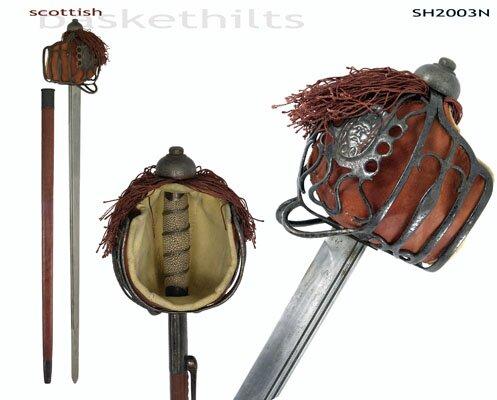 Pałasz Hanwei Basket-Hilt Backsword (Antiqued)