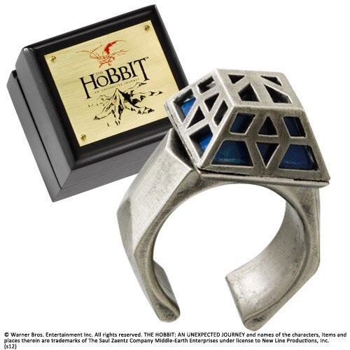Pierścień Thorina z filmu Hobbit - posrebrzany