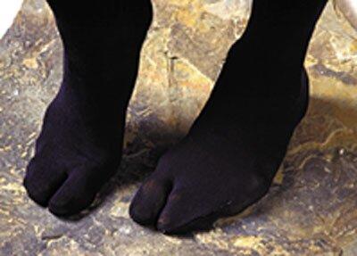 Skarpety Tabi - czarne