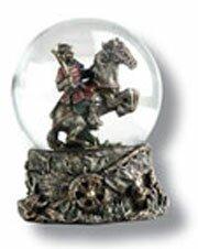 Snow globe with samurai