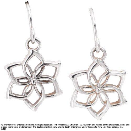 Srebrne Kolczyki Galadrieli z filmu Hobbit - Galadriel Flower Earrings