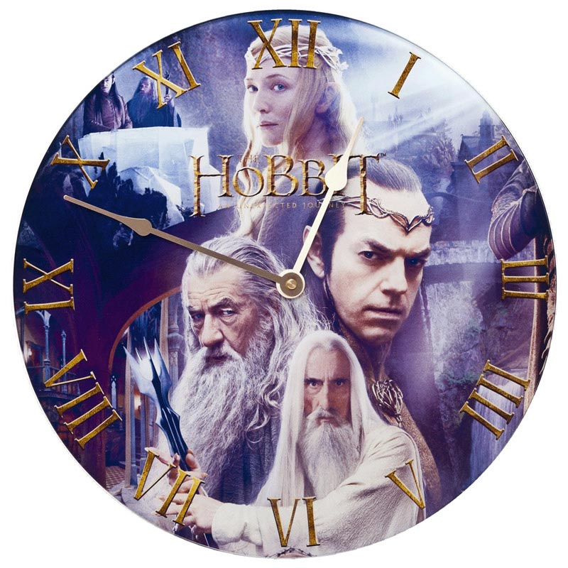 Szklany zegar ścienny z filmu Hobbit - Rivendell