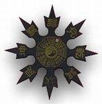 Throwing Star Eagle Black 3.25``